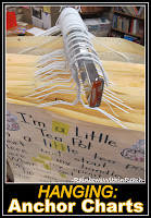 photo of: Hanging Anchor Charts from Hangers! Organize your Anchor Charts