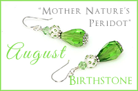 August Birthstone: Mother Nature's Peridot -Crystal Allure Beaded Jewelry Creations