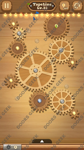 Fix it: Gear Puzzle [TapeLine] Level 22 Solution, Cheats, Walkthrough for Android, iPhone, iPad and iPod