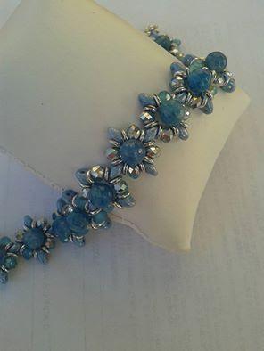 bracciale con superduo e perle da 6mm