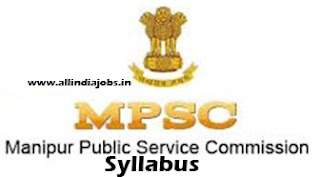 Manipur PSC Scientific Assistant Syllabus