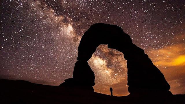 galaksi bima sakti dilihat dari Bumi