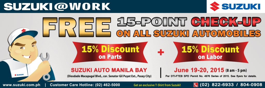 Suzuki free car check-up