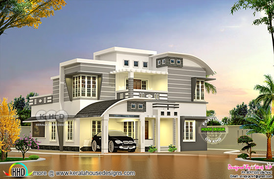 4 bhk 1818 square feet modern house plan