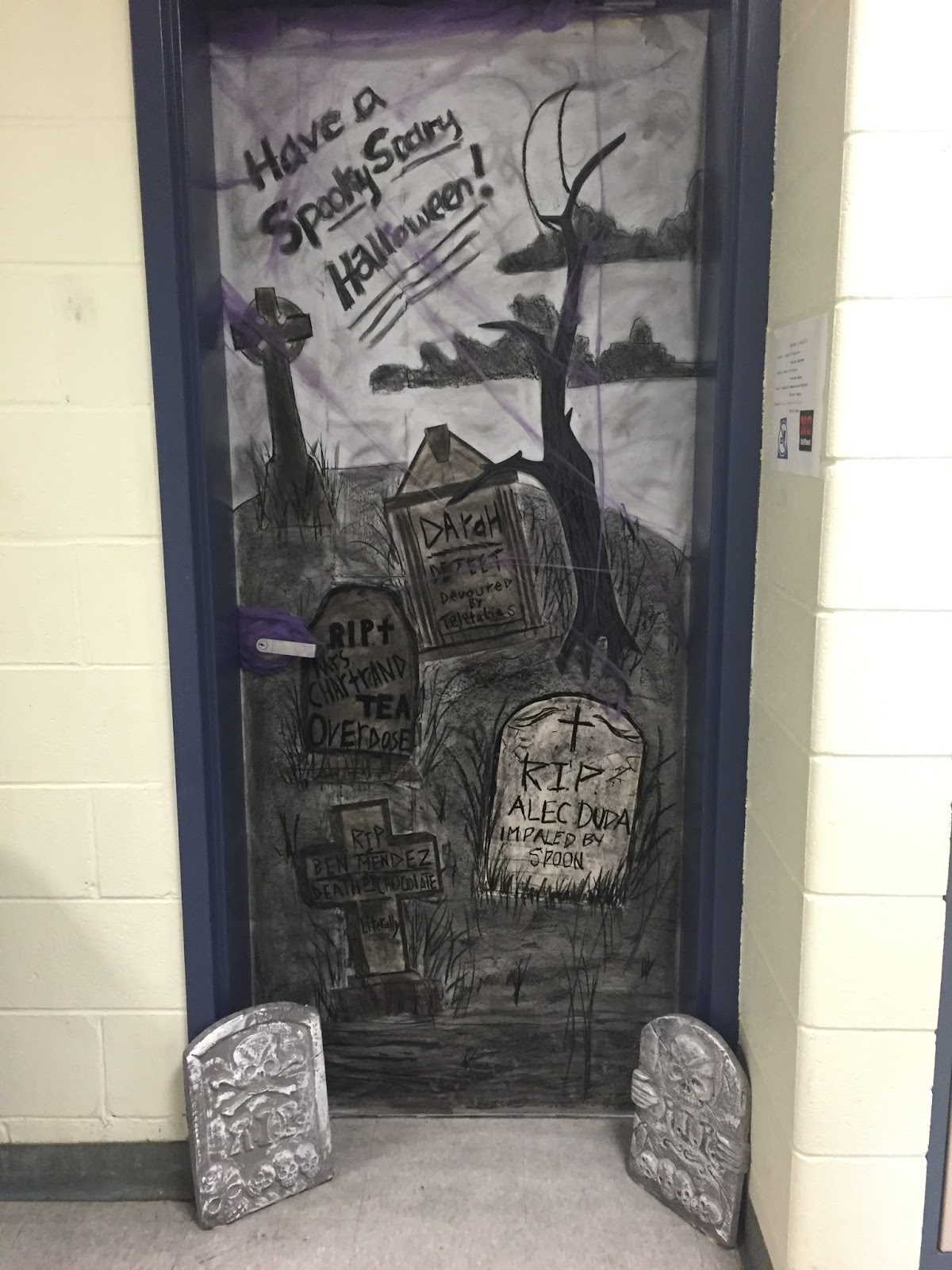 Thoughts from the art room...: Halloween Door Decorating