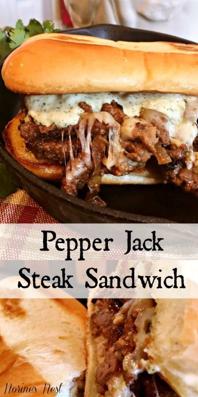Pepper Jack Steak Sandwiches