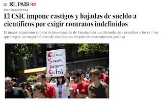 Información publicada en EL PAIS  el pasado día 13 de abril