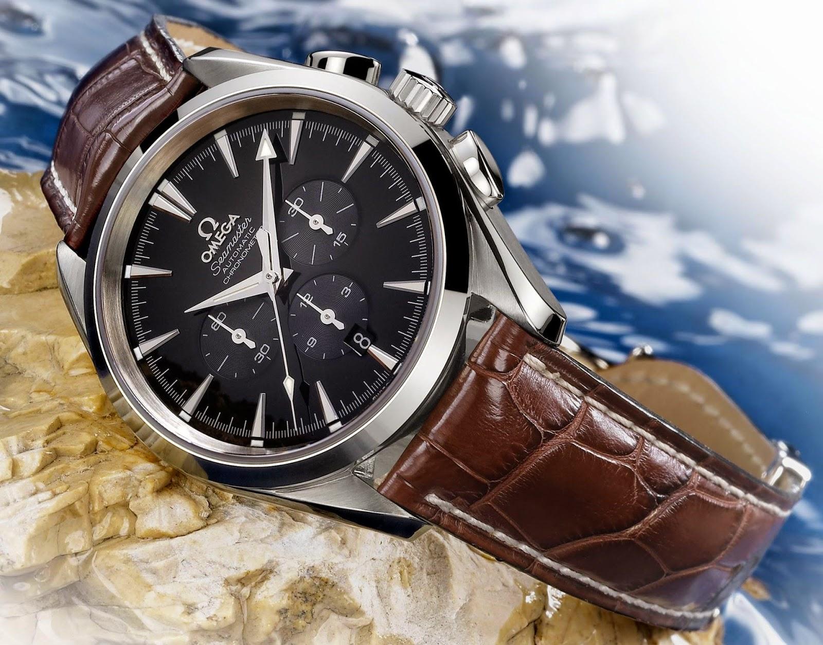 Omega Seamaster Aqua Terra Chronograph with leather strap
