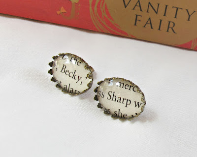 image vanity fair earrings earstuds ear studs two cheeky monkeys jewellery etsy literature thackeray becky sharp