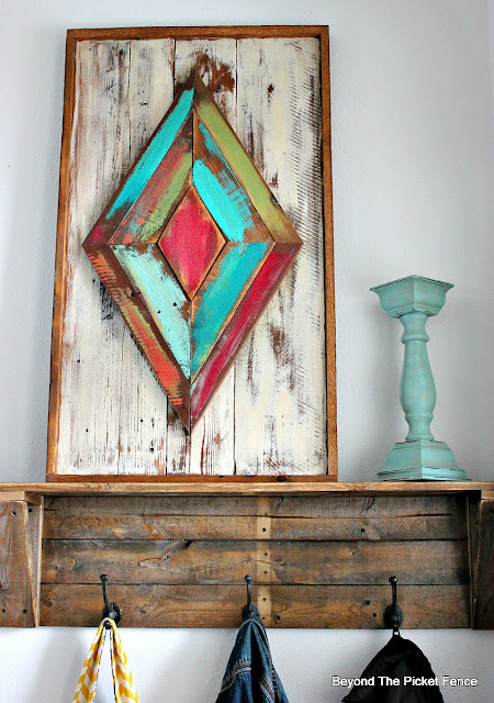 rustic art made from reclaimed, salvaged wood