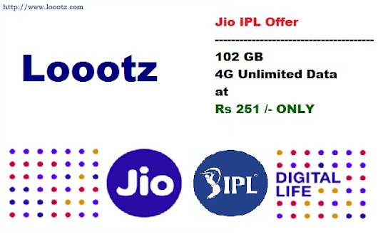 Jio IPL Offer - 102 GB Data Only at Rs 251 for Prime & Non-Prime Members