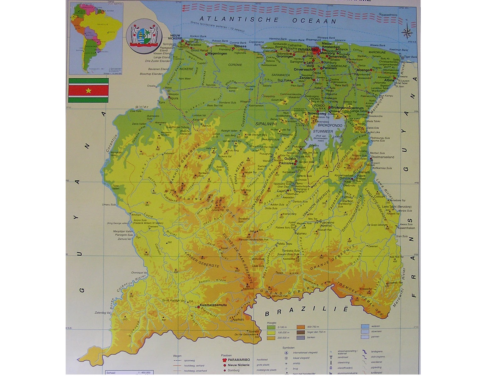 #Suriname | Mapas do Suriname