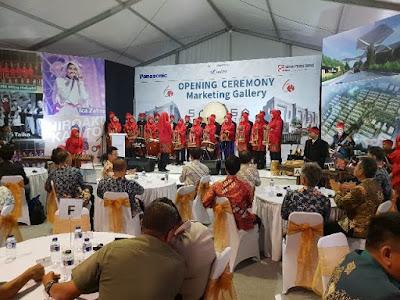 penampilan angklung siswa smk mitra industri savasa deltamas nurul sufitri blogger sinar mas land panasonic opening ceremony marketing gallery