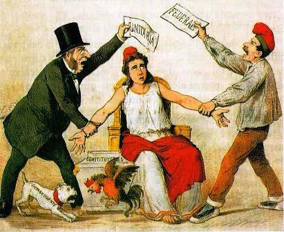 Federalistas, Centristas y la Primera República