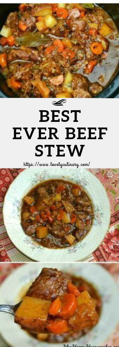 BEST EVER BEEF STEW #dinner #beefrecipe