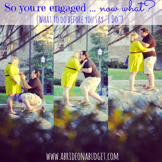 Did you get engaged recently? Find out everything you need to do to plan the perfect wedding in this So You're Engaged ... Now What? post from www.abrideonabudget.com.