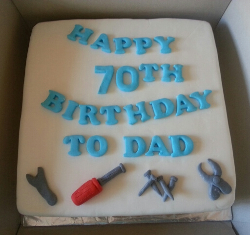 70 Yrs Old Birthday Cake