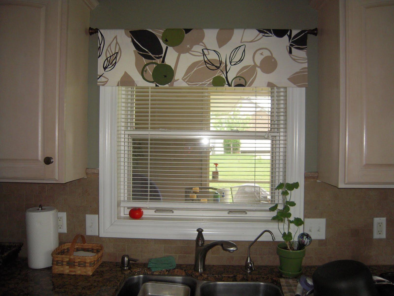 Kitchen Window Valance Over Sink Diy
