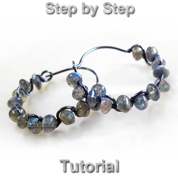 effe3bafc61fb Arctida's creations: Ruffled Gemstone Hoops earrings tutorial - DIY ...