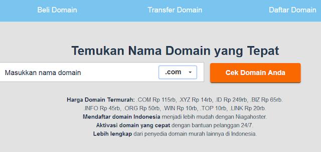 Promo domain .info .xyz .org .biz .win di niagahoster murah banget