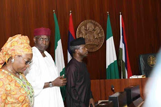 Our President Is Missing O!! Osibanjo Presides Over FEC Meeting While Buhari Absent Again 1