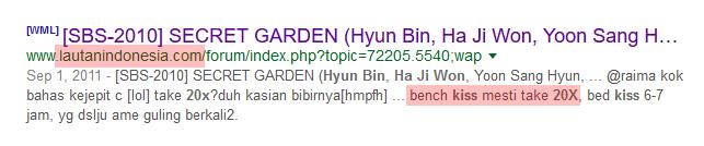 secret garden hajiwon hyunbin bench kiss retake 20x times
