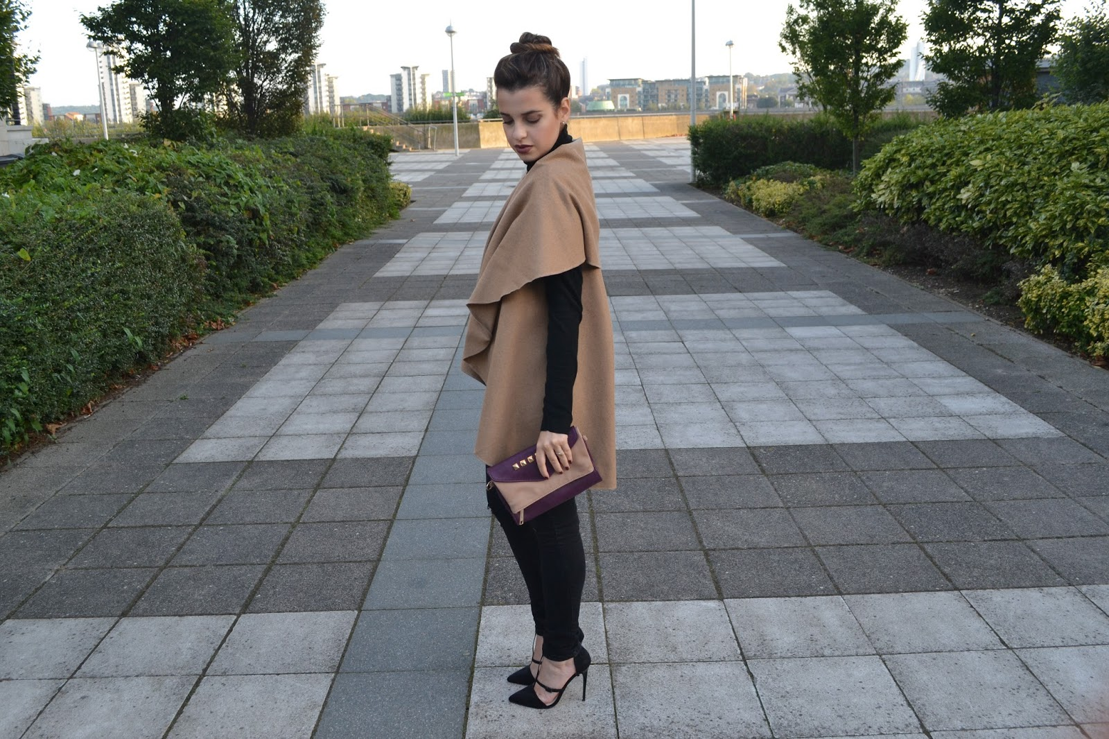 Camel Waterfall Sleeveless Coat