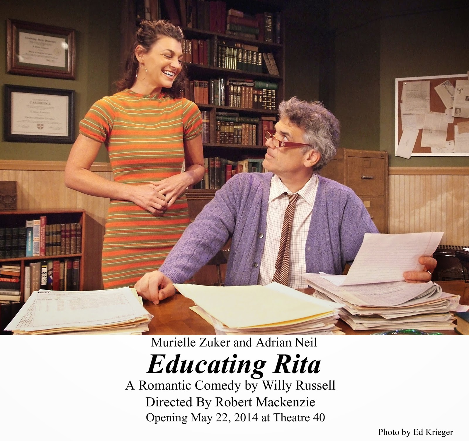 a review of the play educating rita by willy russell In addition to turning educating rita into a movie, russell also adapted the play for the radio, possibly pointing to rita's witty line, do it on the radio the program aired on bbc radio 4 in 2009.