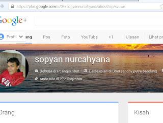 url khusus profile google plus