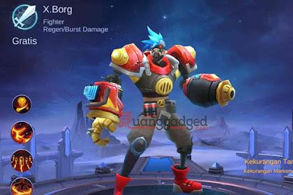 Hero Baru X.Borg, Hero Fighter Mematikan di Mobile Legends