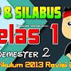 SILABUS Kelas 1 SD Semester 2 Kurikulum 2013 Revisi 2017