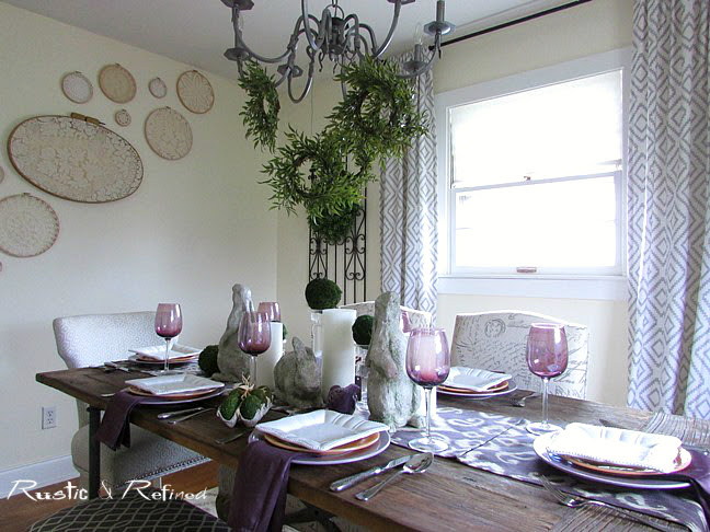 Rustic dining table set for entertaining in style using beautiful colors an textures