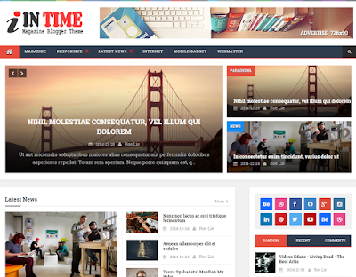 In Time  - SEO Responsive Blogger Template