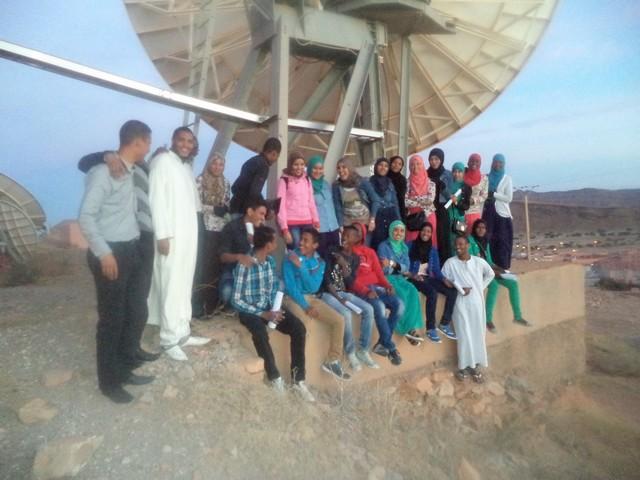 زيارة تربوية لتلاميذ ثانوية ابن الهيثم التأهيلية بطاطا لمحطة البث الأرضي الإذاعي و التلفزي