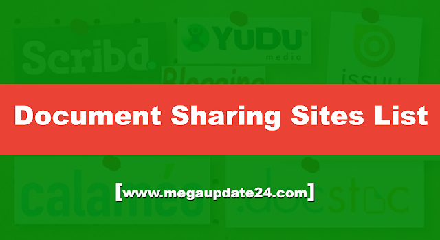 document sharing sites, Document sharing sites list, high pr document sharing sites