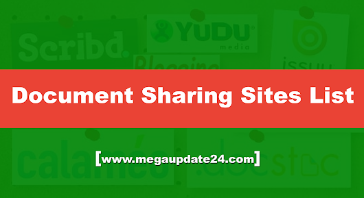 Top 18 High PR Dofollow Document Sharing Sites List Updated