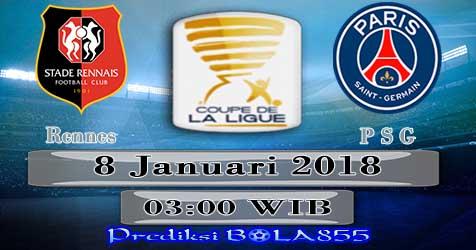 Prediksi Bola855 Rennes vs Paris Saint Germain 8 Januari 2018