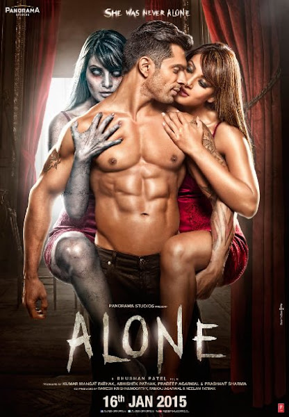 Poster of Alone 2015 720p HDRip Hindi