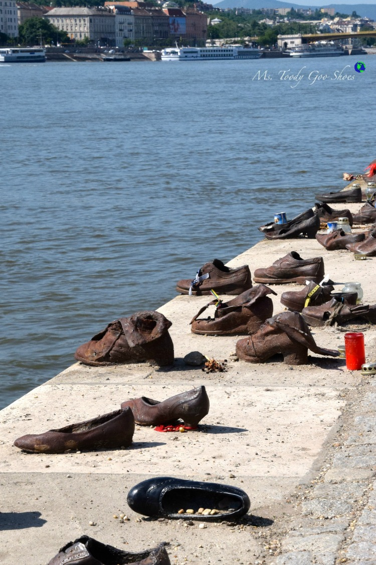 Shoes On The Danube memorial in Budapest  | Ms. Toody Goo Shoes #budapest #danuberivercruise #hungary