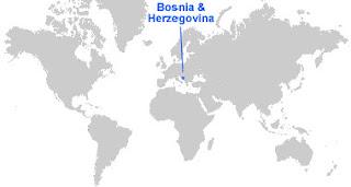 image: Bosnia and Herzegovina map ;pcation