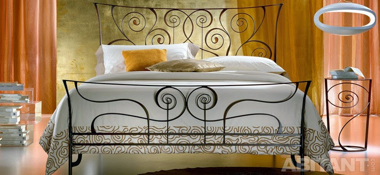 Stylish Italian wrought iron beds and headboards 2015
