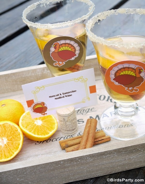 Muscat & Tangerine Mulled Wine Recipe - BirdsParty.com