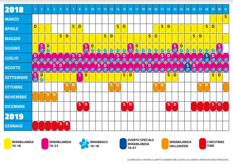 Calendario Mirabilandia 2020.Calendario Mirabilandia Calendario 2020