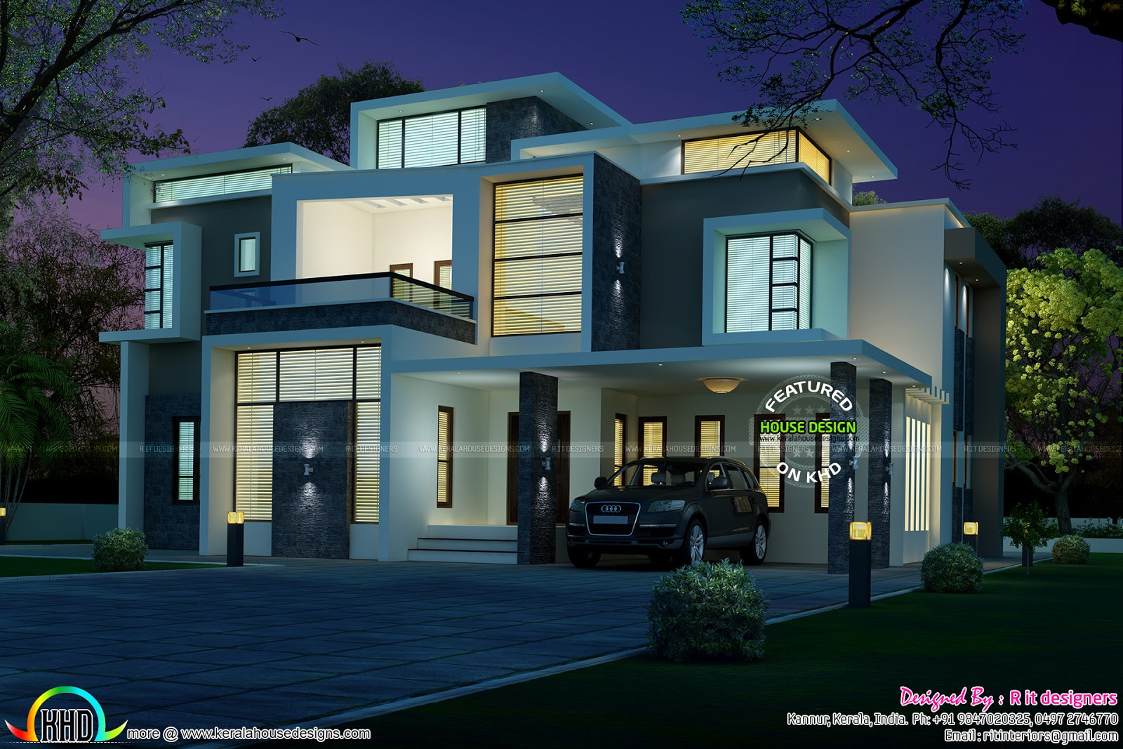 Stunning contemporary house architecture kerala home for Contemporary house in kerala