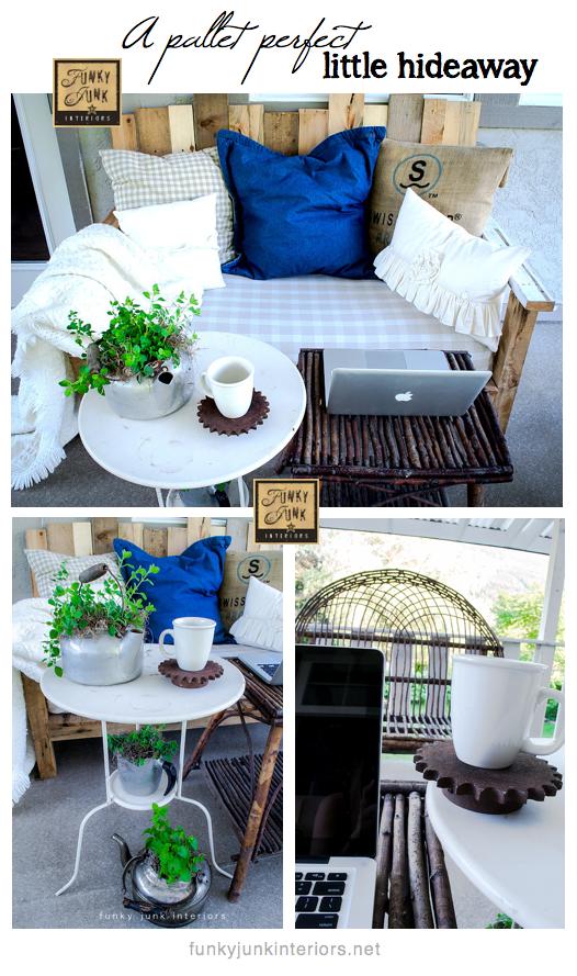 pallet sofa outdoor patio furniture Funky Junk Interiors