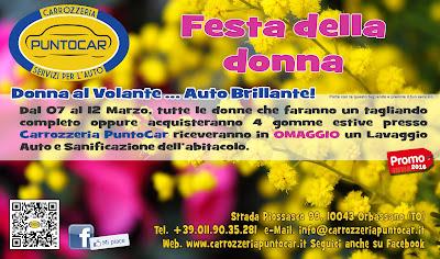 Festa della Donna 2016 festeggia con Carrozzeria Puntocar