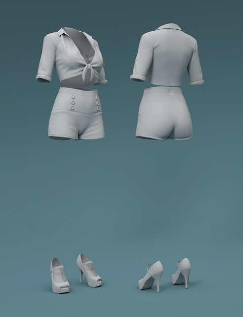Esther Outfit for Genesis 3 Female