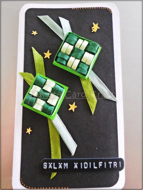 Zuneta Card Craft Tempahan Kad Hari Raya 2013 Quilling