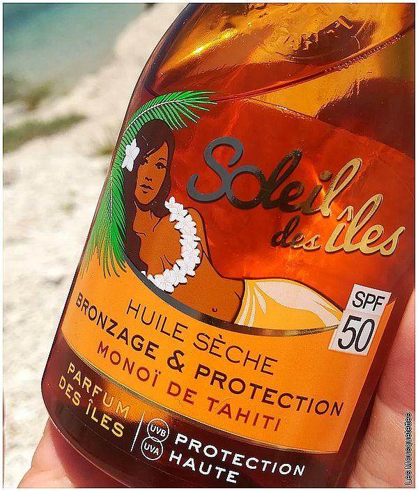 Soleil des Îles, Huile sèche bronzage et protection au Monoï de Tahiti - Blog Marseille