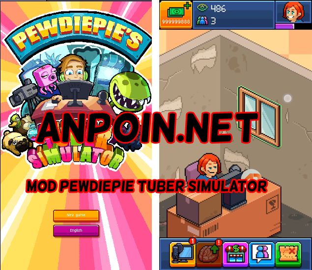 Mod Game PewDiePie Tuber Simulator Unlimited Money Work, Download Pewdiepie Tuber Simulator Mod unlimited money work android no root, Cara menggunakan mod unlimited money pewdiepie tuber simulator